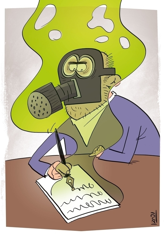 Bad News - cartoon, MohsenIzadi - izadi | ello