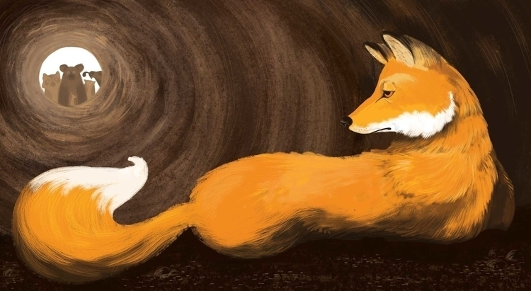 fox, illustration, digitalillustration - ashleyrades | ello