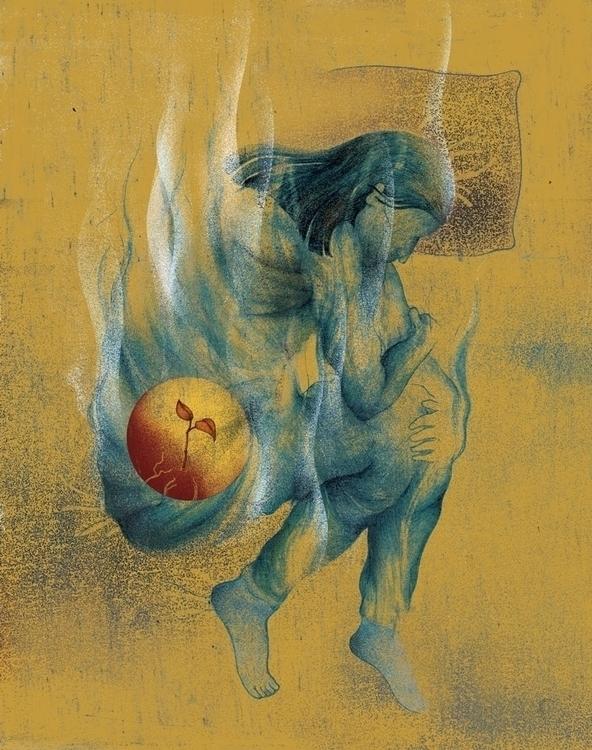 Close Comfort Pregnant Pain - illustration - paojulin | ello