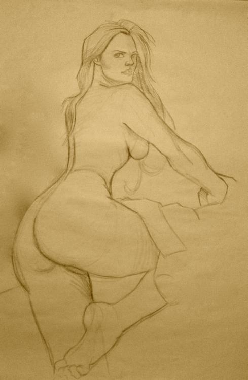 pose_02 - drawing, drawing - naazunutty | ello