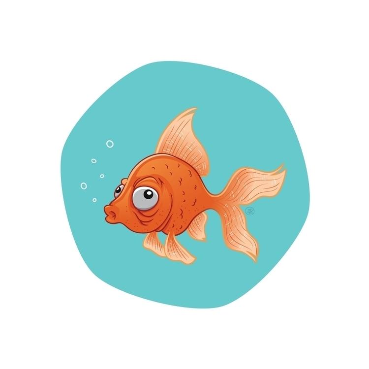 Fish - fish, vector, water, goldfish - nicosarmiento   ello