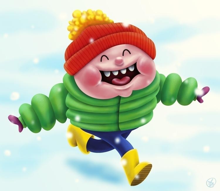 Snow - snow, snowing, kid, run, happy - nicosarmiento | ello