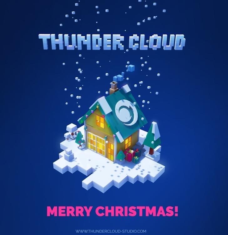 Pixel Merry Christmas Thunder C - thundercloudstudio | ello