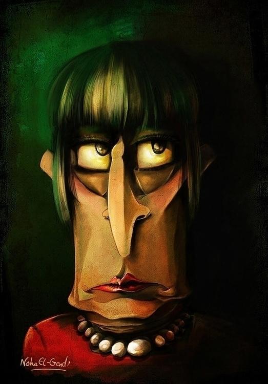 Freaky Woman - characterdesign - noha-el-gendi | ello