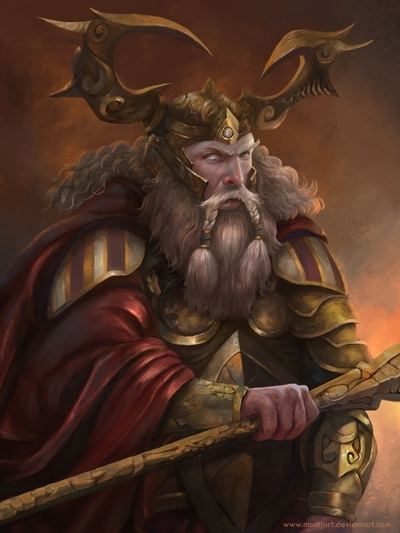 Odin - drawing, conceptart, painting - montjart | ello