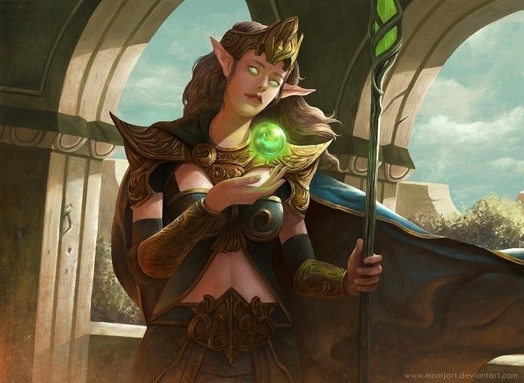Sorcerer - illustration, painting - montjart | ello