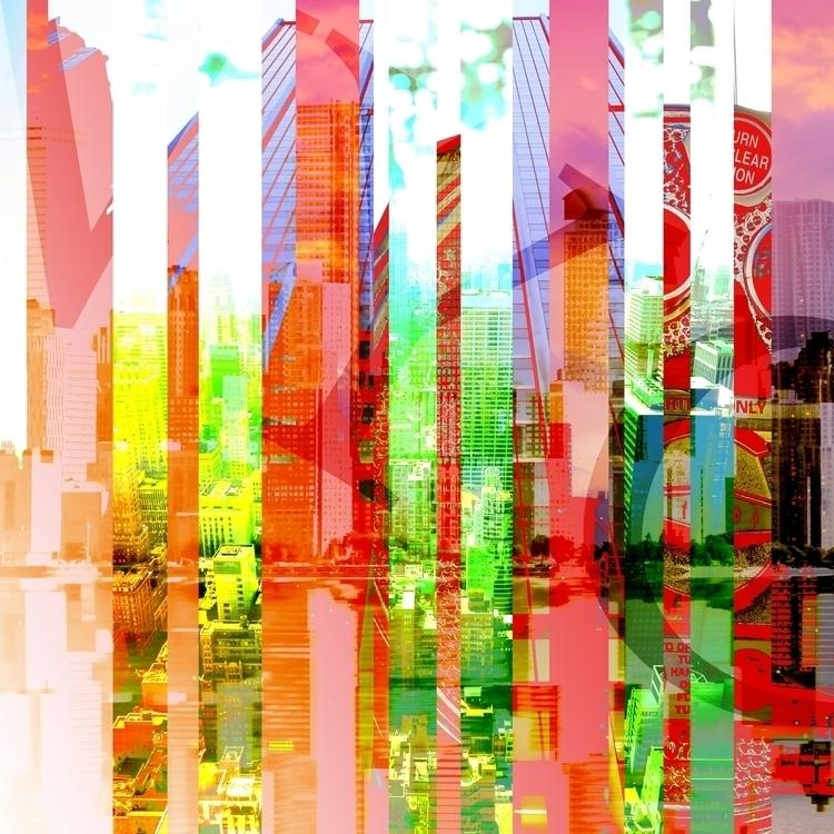 Clustoed NYC - nyc, #digitalart#drawing#art#drawing#acrylic#paint#collage - banzaiblazer | ello