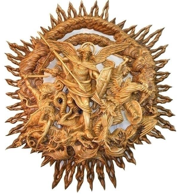 Archangel Michael - sculpture, woodcarving - oleggetmanchuk | ello