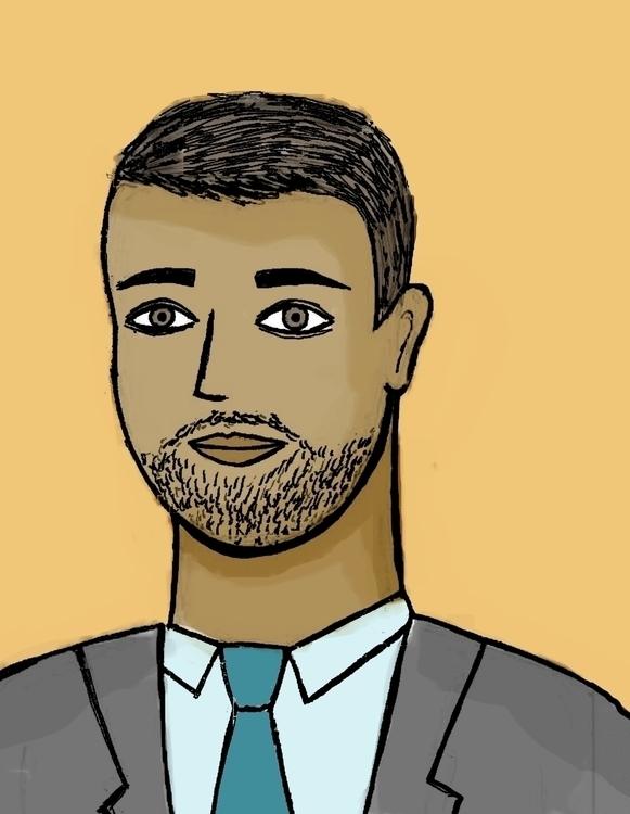 Basit - illustration, office, people - arvindm | ello