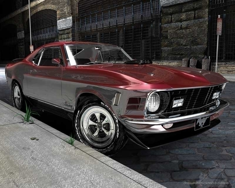 dream muscle car! Full render 1 - infinitee | ello