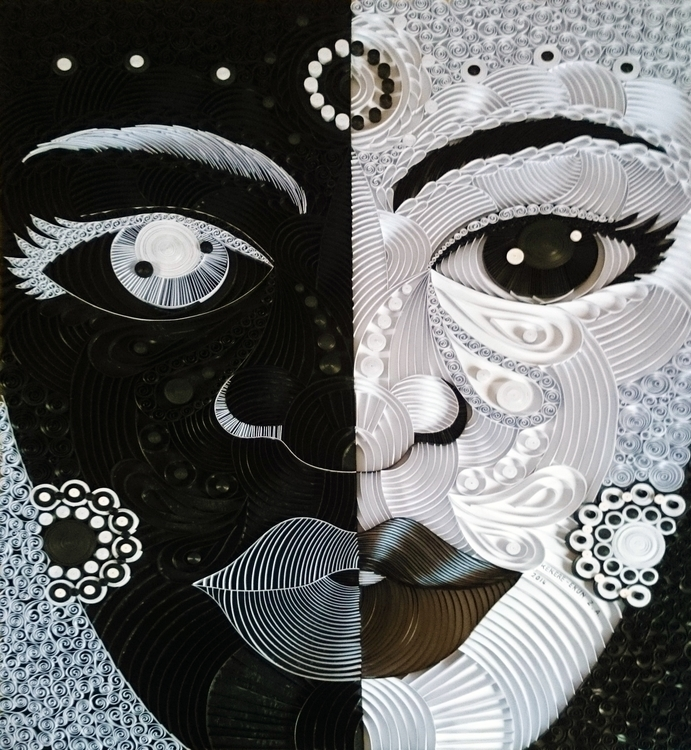 Duality - paperart, mixedmedia, art - ayobola | ello
