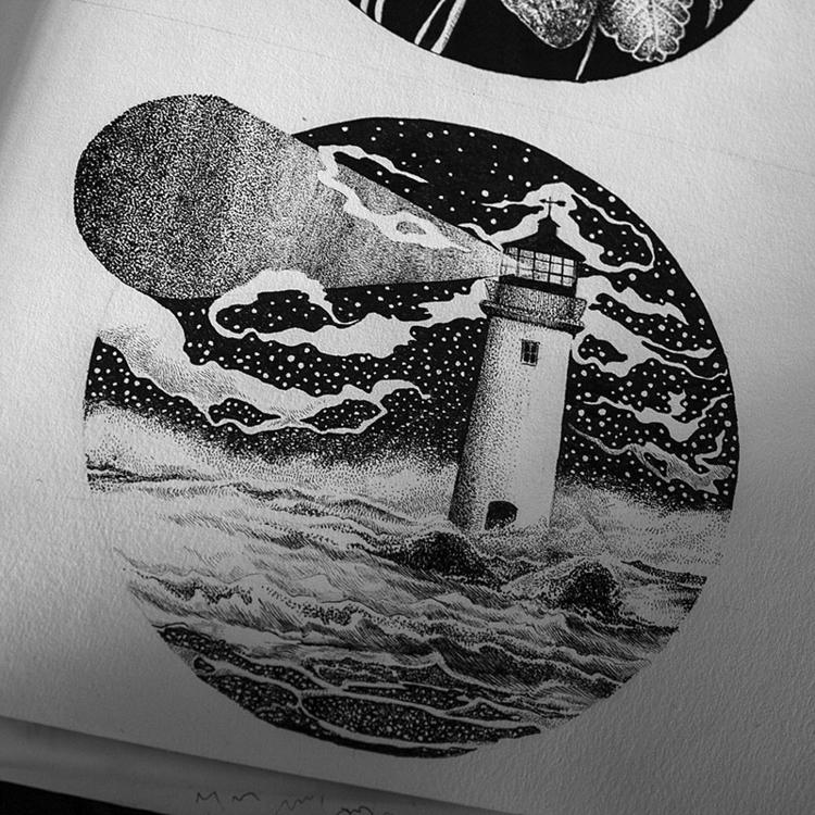 Sea - illustration, drawing, #art - karolina-4327   ello