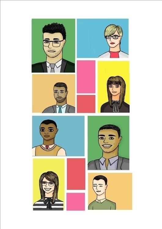 Mosaic Team - people, office, illustration - arvindm | ello