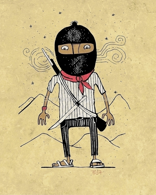 Zapatist illustration - bernardojbp | ello