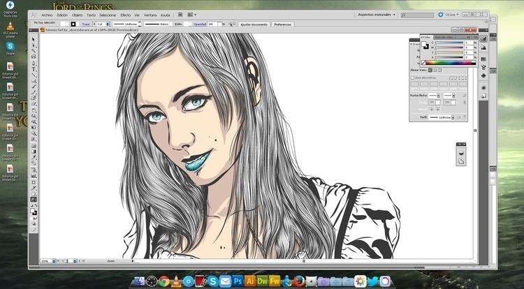 Work progress - illustration, art - atsukosan-3588 | ello