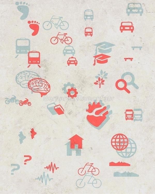 Urban mobility symbols - urban, transport - bernardojbp | ello
