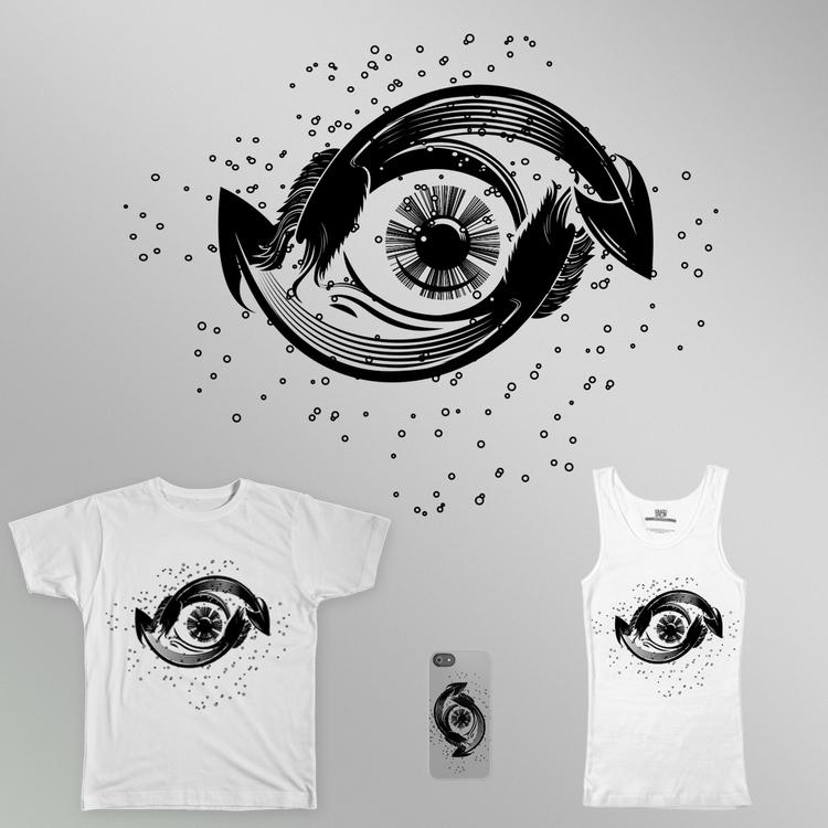 shirt illustration eye design c - jovana-1168 | ello