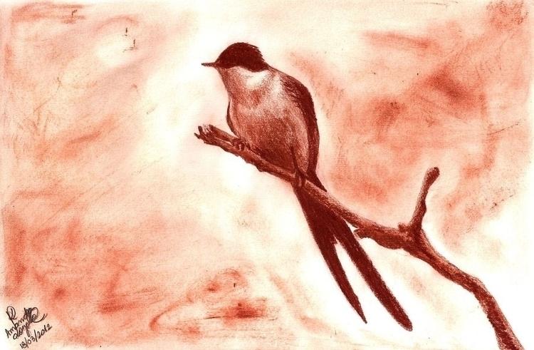 painting, birds, illustration - amandaloyolla | ello