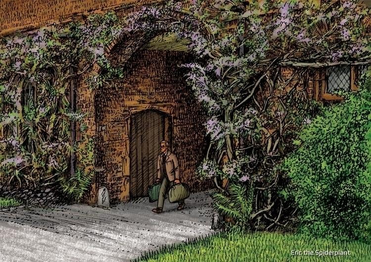Sam arrives Twynor House - #illustration - dannybriggs | ello