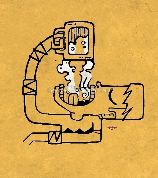 Drinking beer / illustration - man - bernardojbp | ello