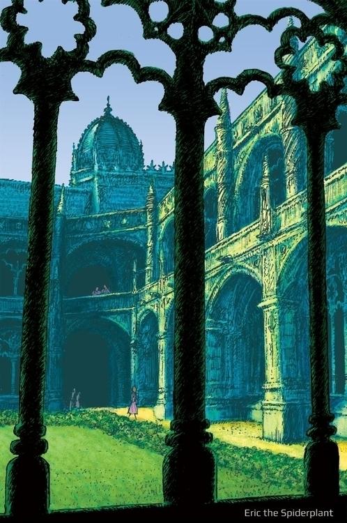 Courtyard - #illustration, architecture - dannybriggs | ello