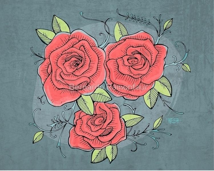 roses / Illustration - flowers, plant - bernardojbp | ello
