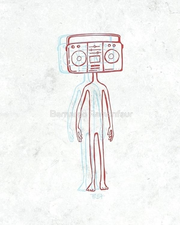 Radio head / illustration - radio - bernardojbp | ello