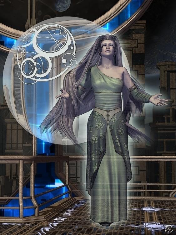 Goddess Aria - 3d, sci-fi, portrait - baddog117 | ello