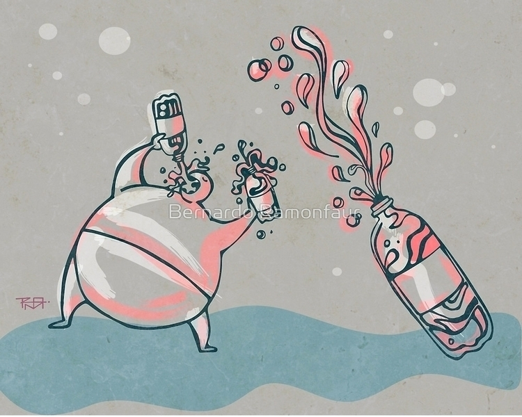 Drinking soda / Illustration - drinking - bernardojbp | ello
