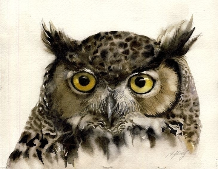 watercolor paper - painting, wildlife - alfredng | ello