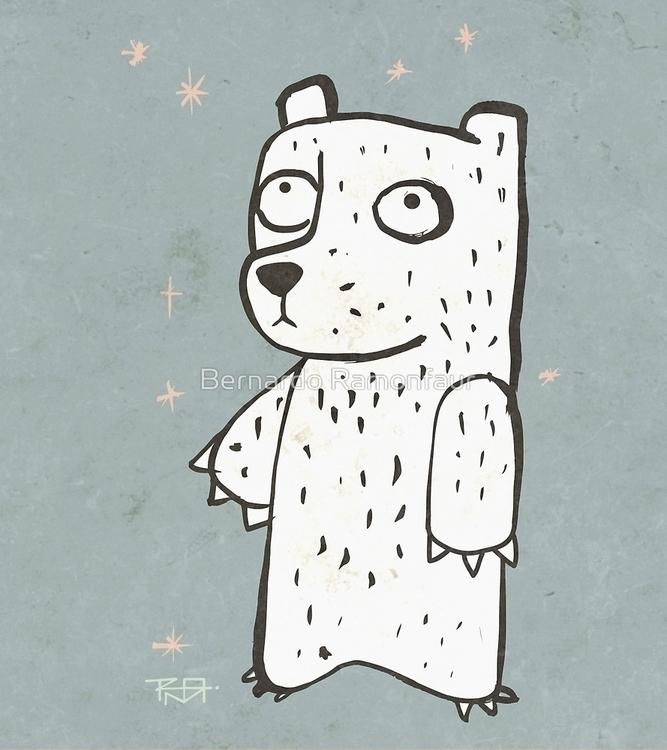 Shy bear / Illustration - shy, cartoon - bernardojbp | ello