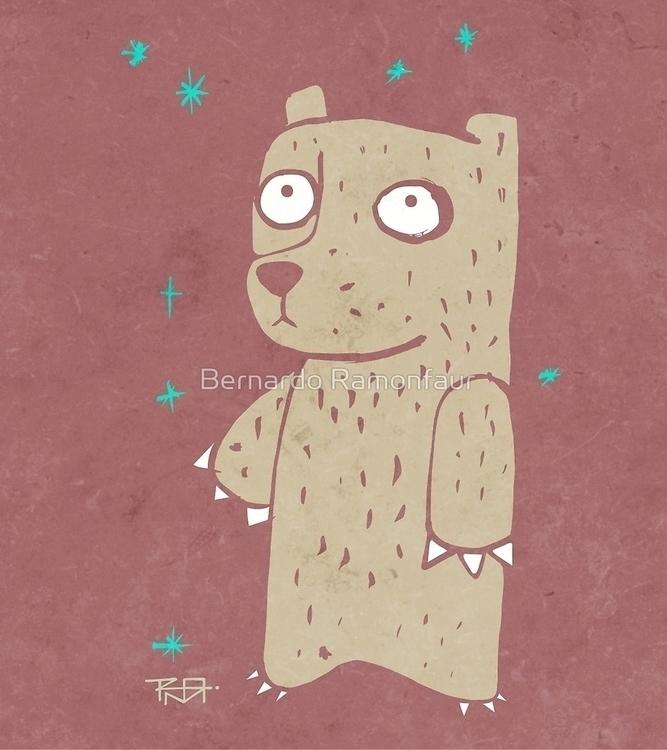 Shy bear / Illustration - shy, illustration - bernardojbp | ello