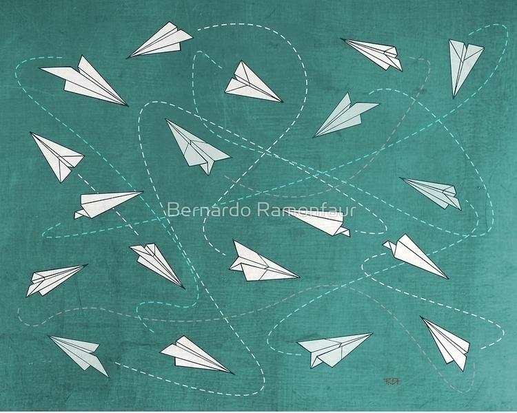 Paper planes pattern illustrati - bernardojbp | ello