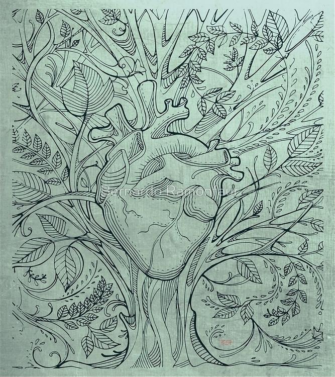 Organic heart / Illustration - organic - bernardojbp | ello