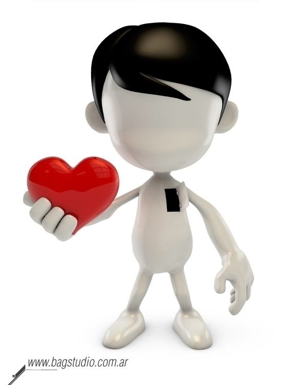 Blank guy heart render - characterdesign - bagstudio | ello