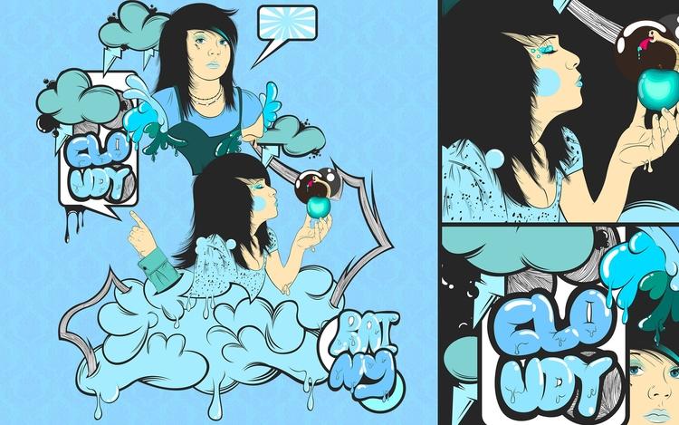 Illustration, funny concept!! l - atsukosan-3588 | ello