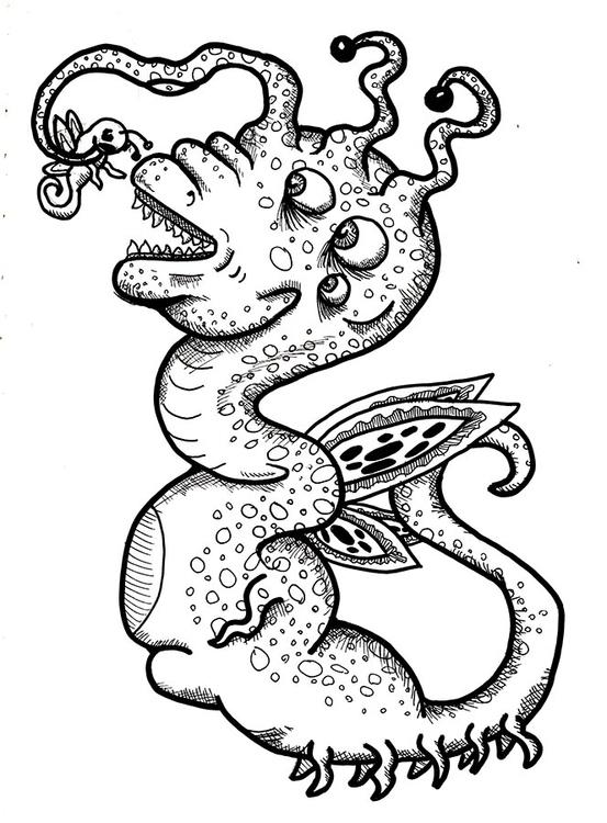 Dragon monster - dragon, illustration - toryerpenbeck   ello