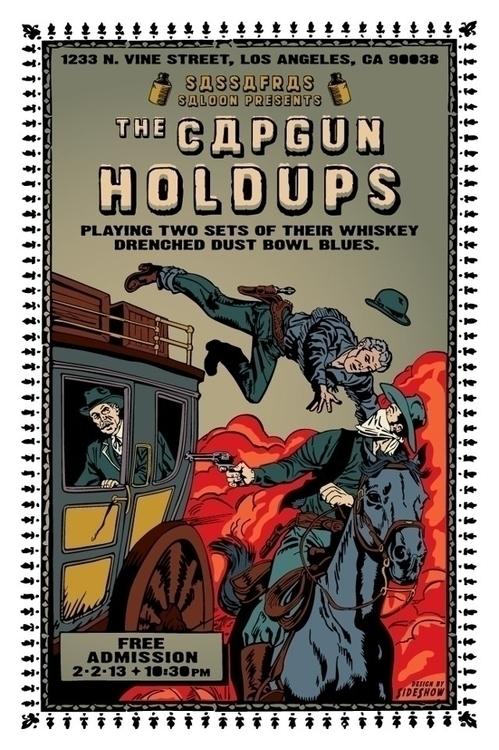 Capgun Holdups - sideart | ello