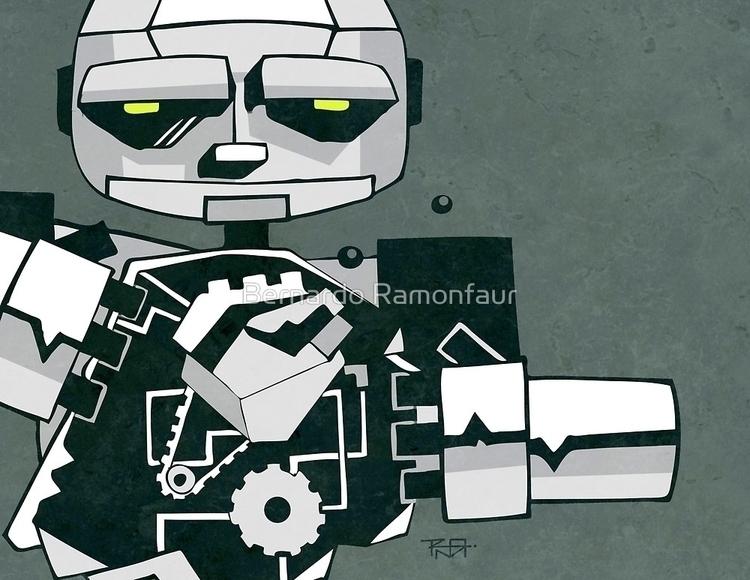robot / illustration - robot,metal - bernardojbp | ello