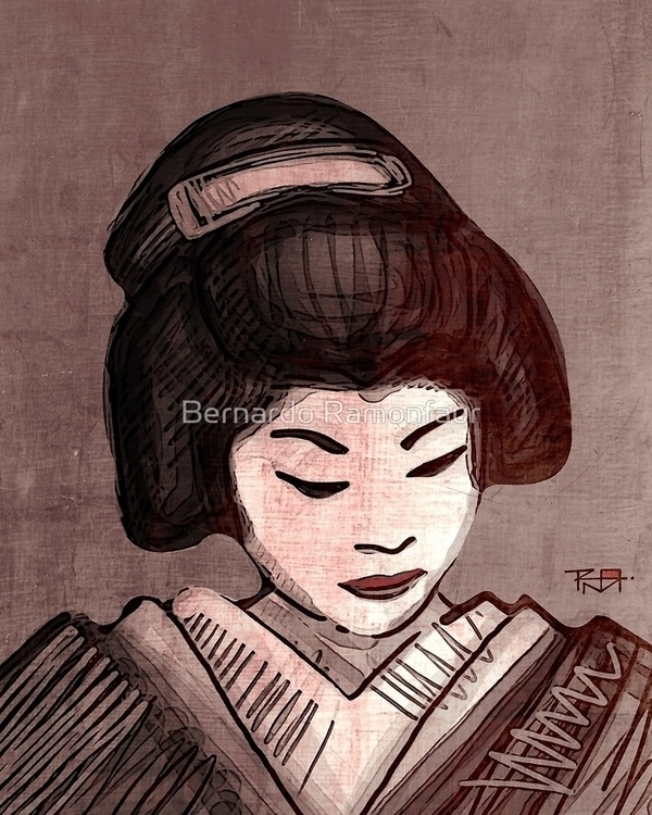 Geisha / illustration - geisha, woman - bernardojbp | ello