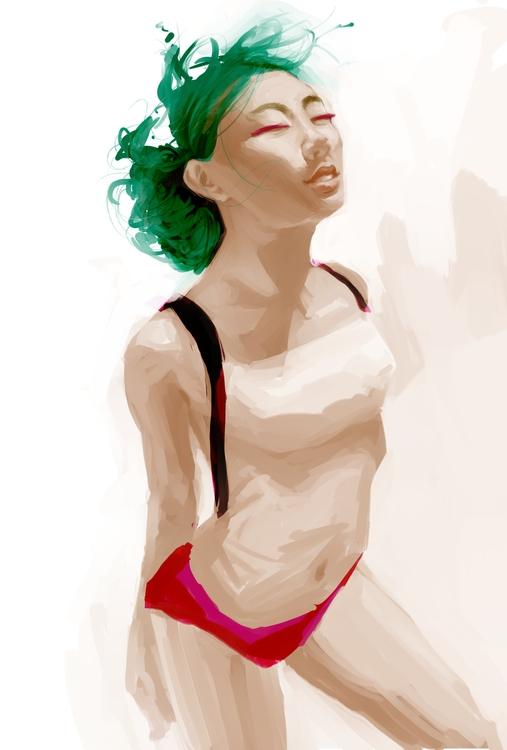 Floating - digital, illustration - jsmney   ello