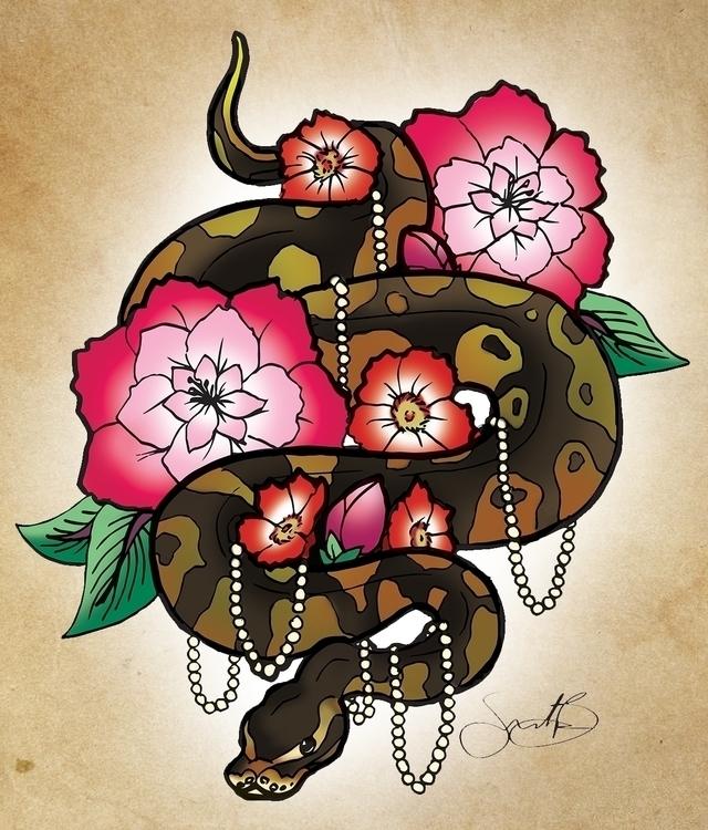 Snake - illustration - samlbrown   ello
