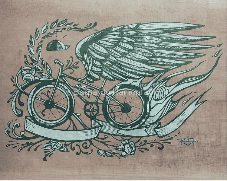 Flying bike / illustration - flying - bernardojbp | ello