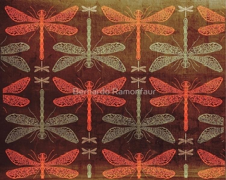 Dragonflies pattern illustratio - bernardojbp | ello
