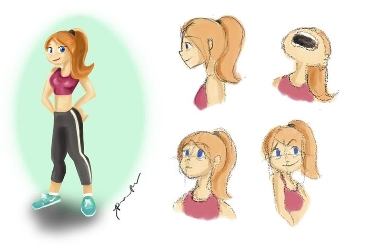 characterdesign, painting, illustration - roxanneeee | ello