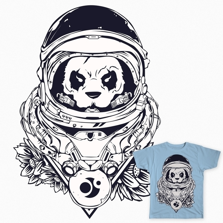 Space Panda - illustration, painting - shizo | ello