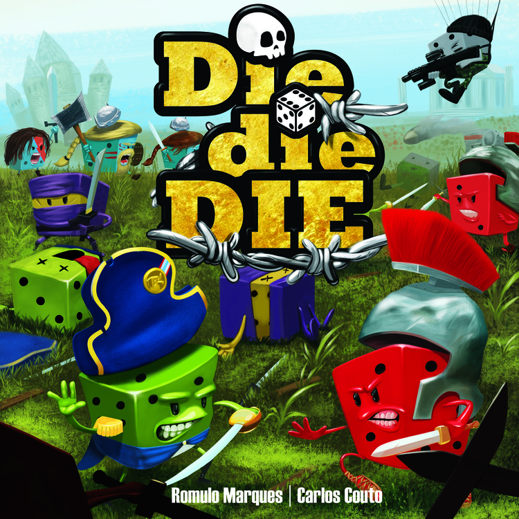 die, Die, DIE! game cover - illustration - leleskine | ello
