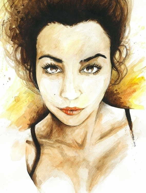 Portrait_watercolor pencil - portrait - pompeo-1445 | ello