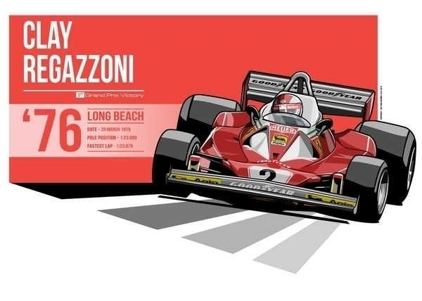Clay Regazzoni - 1976 Long Beac - evandeciren | ello