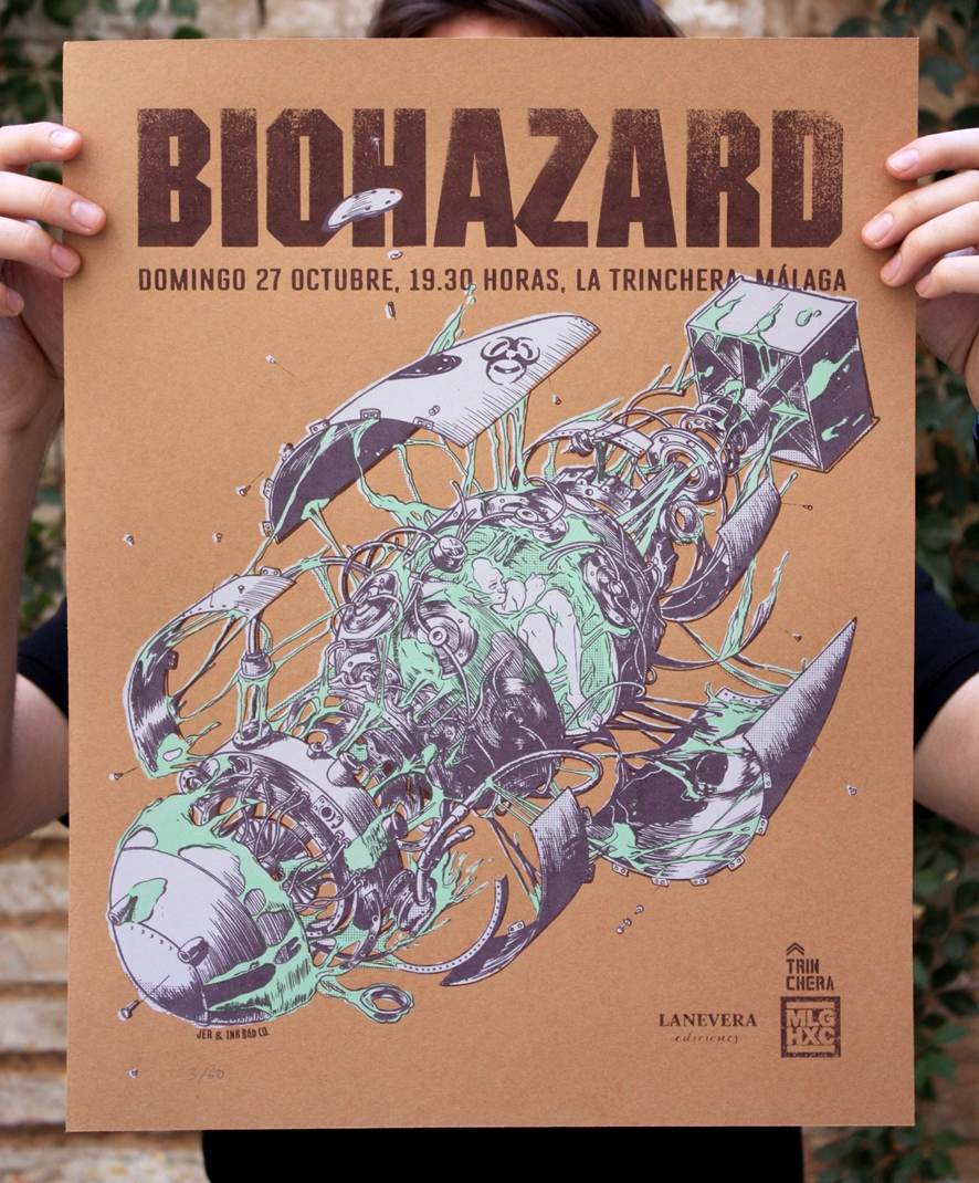 Biohazard gig poster. 3 colors  - juanesteban-1380 | ello